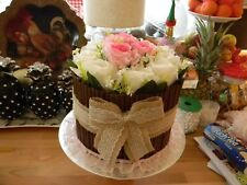 Stunning Ooak Faux/Fake Lrg Rose Cigarello Country Vintage Wedding Cake