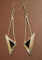 Ohrhänger,925er Silber,je 1 Onyx,je 1 Türkis oder je 1 Seeopal (Paua-Shell)