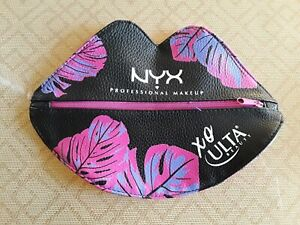 NEW 2019 NYX Professional Makeup Ulta XO Lip Shaped Cosmetic Bag Black 1-28