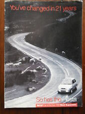 FORD FIESTA Range 1996 - 1998 98 UK Mkt Publicity Brochure