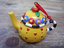 Mary Engelbreit Tea Pot Teapot Ornament Small Red Heart Mini ME Ink