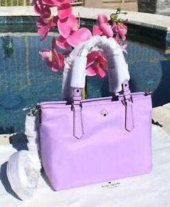🌸Kate Spade Taylor Small Crossbody Tote Bag Nylon & Leather Iris Bloom NEW $158