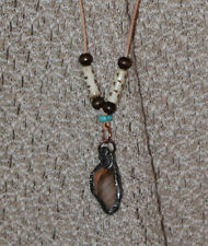 Beautiful Earthtones Petrified Cedar Turquise & Wood beads dcurtis