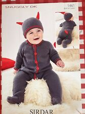 SIRDAR Snuggly  DK  Little Devil ~ Knitting Pattern ~ All-IN-ONE + Hat-birth-2yr