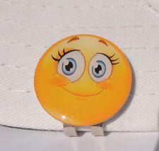 Lashes Emoji Golf Ball Marker - W/Bonus Magnetic Hat Clip