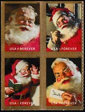 US Sparkling Holidays Santa Coca-Cola forever block set (4 stamps) MNH 2018