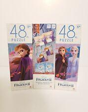 Disney Frozen 2,  Set of 2 48 Pc  Puzzles, bonus Memory Game