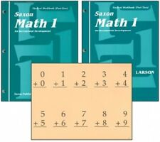 SAXON MATH 1 HOMESCHOOL STUDENT WORKBOOKS & FACT CARDS - NORMAL COST $46.47 NEW