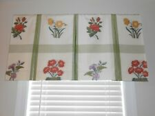Lee Jofa Custom made board mounted valance floral multi on white green