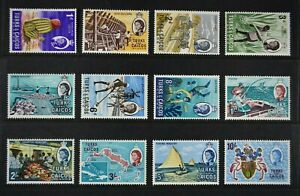 TURKS & CAICOS, QEII, 1967, 12 stamps from set to 10s. value, mainly MM, Cat £20