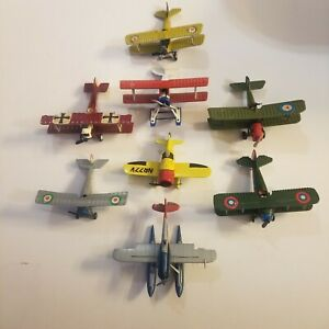 Vintage Diecast Planes Edison Giocattoli Made in Italy 8 Planes total LOOK
