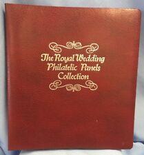 "VTG Royal Wedding Philatelic Panels Collection Charles Diana 14"" X 12"" & Binder"