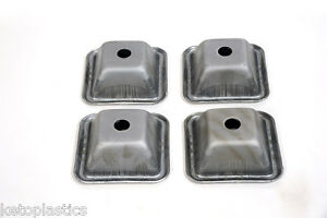PACK OF 4  STILLAGE PALLET STACKING FEET, HEAVY DUTY, 2.5MM THICK