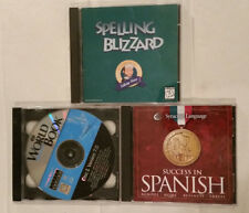Old Version Computer Educational Games - Spelling Blizzard, Spanish, World Book