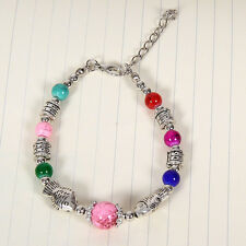 HOT Free shipping New Tibet silver multicolor jade turquoise bead bracelet S125B