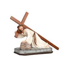 Jesus fall resin statue cm. 23 x 30