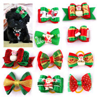 Dog Hair Bows 58 Christmas Candy Cane Dog Bow Peppermint Dog Bow Puppy Single Loop Topknot Bow