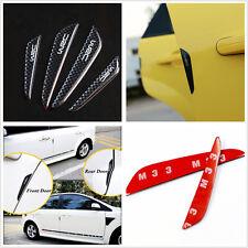 Bumper Protector 4x Car Moulding Black Bubber Strip Anti-Rub Door Crash Bar Side