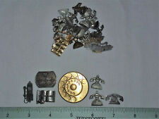 Jewelry & Crafting- Made In Usa 30 Telephone Theme Brass Stampings For