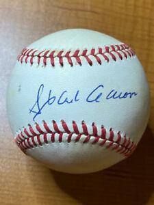 Hank Aaron - Signed Autographed Rawlings Official NL (White) Baseball HOF - PSA
