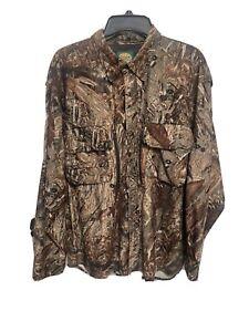 NWOT Cabela's Waterfowl Guide Mossy Oak Duck Blind Pro Hunting LS Shirt XL