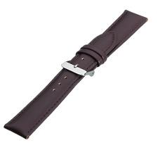 Echtederband Braun / Gepolstert / Uhrenband / 18 mm (Eich01)