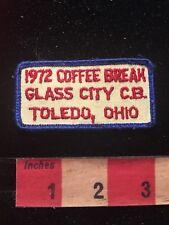 Vintage 1972 GLASS CITY CB COFFEE BREAK TOLEDO OHIO Amateur Radio Patch 81D2