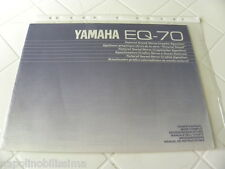 Yamaha Eq-70 Owner's Manual Operating Instructions