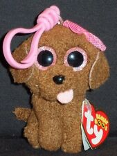 TY BEANIE BOOS - MADDIE the DOG KEY CLIP - MINT with MINT TAG