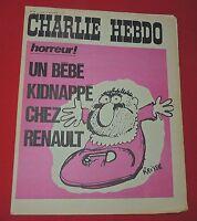 CHARLIE HEBDO n°69 - 1972.  Couverture REISER. Etat neuf
