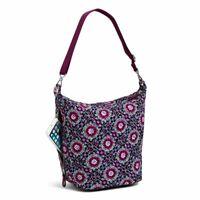 Vera Bradley Lilac Medallion Carson Hobo Crossbody Shoulder Bag Side Pocket NWT