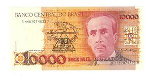 Brazil 10 Cruzados Novos  on 10000 Cruzados - banknote - 1990 -- UNC