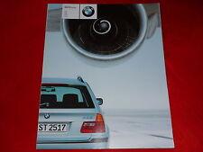 BMW 3er E46 Touring 318i 320i 328i 320d 330d Prospekt Brochure von 1999