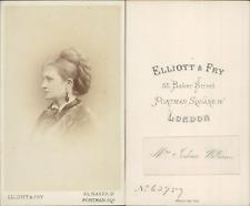 Elliot & Fry, Londres, portrait de femme CDV vintage albumen Tirage albuminé