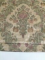 Croscill Home Damask King Sz Floral Pillow Sham Beige Pink Green Rope Trim 20x37