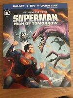SUPERMAN:MAN OF TOMORROW (BLU-RAY+DVD+DIGITAL) NEW w/SLIP