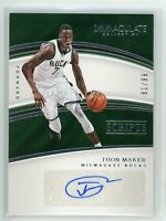 2016-17 Thon Maker 81/99 Auto Panini Immaculate Autographs Rookie RC