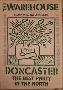 Doncaster warehouse (1990 or 1991) rare rave flyer