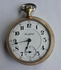 Antique 1908 Rockford Two Tone Tutone Pocket Watch Grade 938 17j 18s 55.5mm