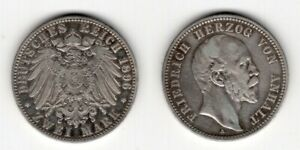 ANHALT   2 Mark 1896   Friedrich I.