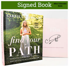 !! SIGNED 1/1 !! Find Your Path Autographed Book by Carrie Underwood hb NEW +COA