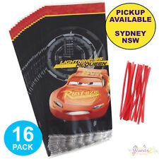 DISNEY CARS 3 PARTY SUPPLIES 16 LOOT BAGS BIRTHDAY TREAT FAVOURS LOLLY SACKS
