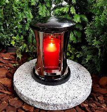 GRABLATERNE AUS ECHTEM GRANIT LATERNE GRABLICHT LAMPE GRABLEUCHTEN KERZE SOCKEL