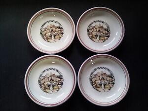 "Tre Ci Himark Pasta Bowls Buona San Remo Italy Pottery. Set of (4) 8 1/4"""