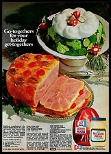 1973 Hickory Smoked Ham Miracle Whip Christmas Cooking Recipes Vintage 1970s Ad