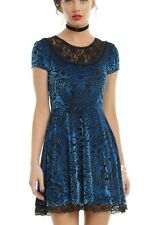 Miss Peregrine's Home For Peculiar Children Blue Velvet Dress Size Medium NWT!