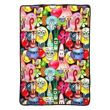 "New Nickelodeon Spongebob & Friends Super Plush Soft Throw Blanket 46""x60''"
