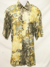 GEORG ROTH Germany Mens Button Down Shirt Large Short Sleeve Abstract Artsy
