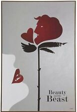 DISNEY OFFICIAL BEAUTY AND THE BEAST PRINCESS BELL ENCHANTED ROSE WOOD WALL ART