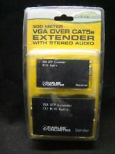 CABLES UNLIMITED 300 METER VGA OVER CAT5e EXTENDER with STEREO AUDIO - NEW